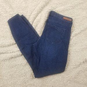 Express Dark Wash Denim Leggings Size 8